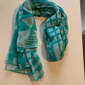 Gorgeous teal blue scarf